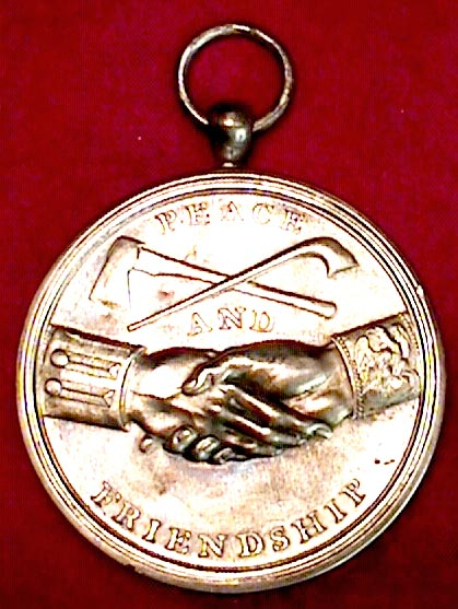 Thomas Jefferson Indian Peace Medal - reverse
